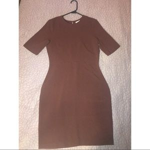 H&M fitted burgundy dress